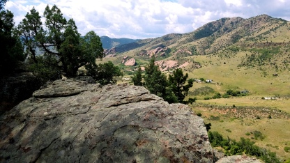 Rock overlook on the Dakota Ridge Trail