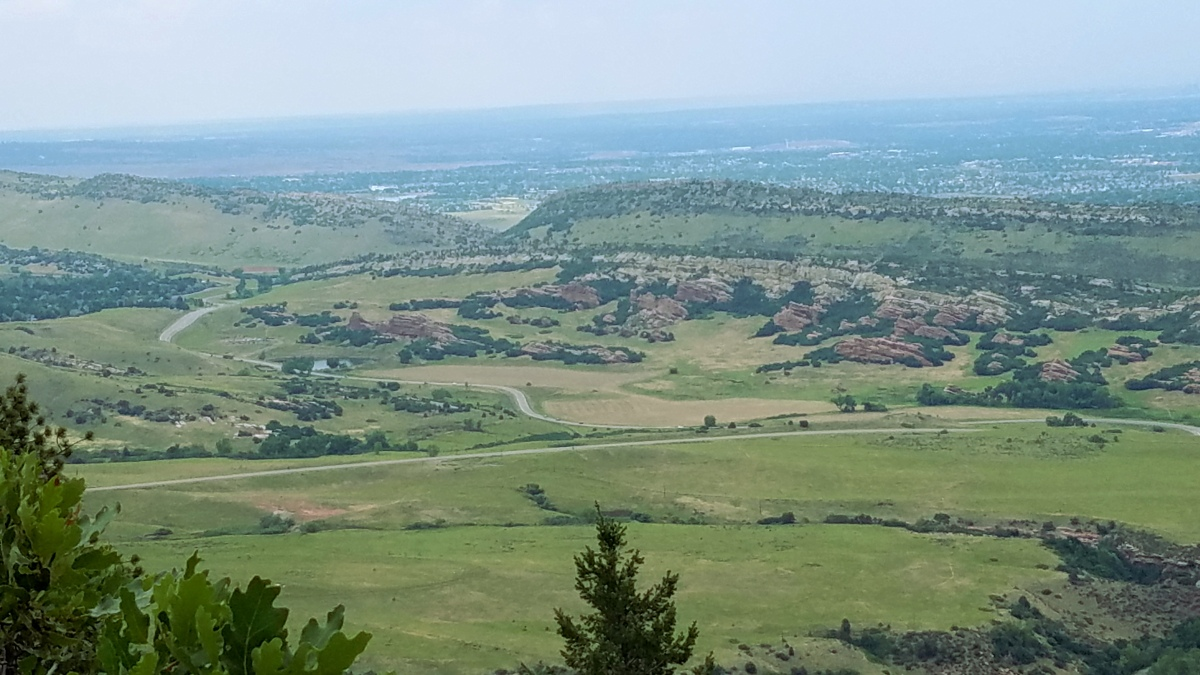 View of South Valley Park from Deer Creek Canyon Park.