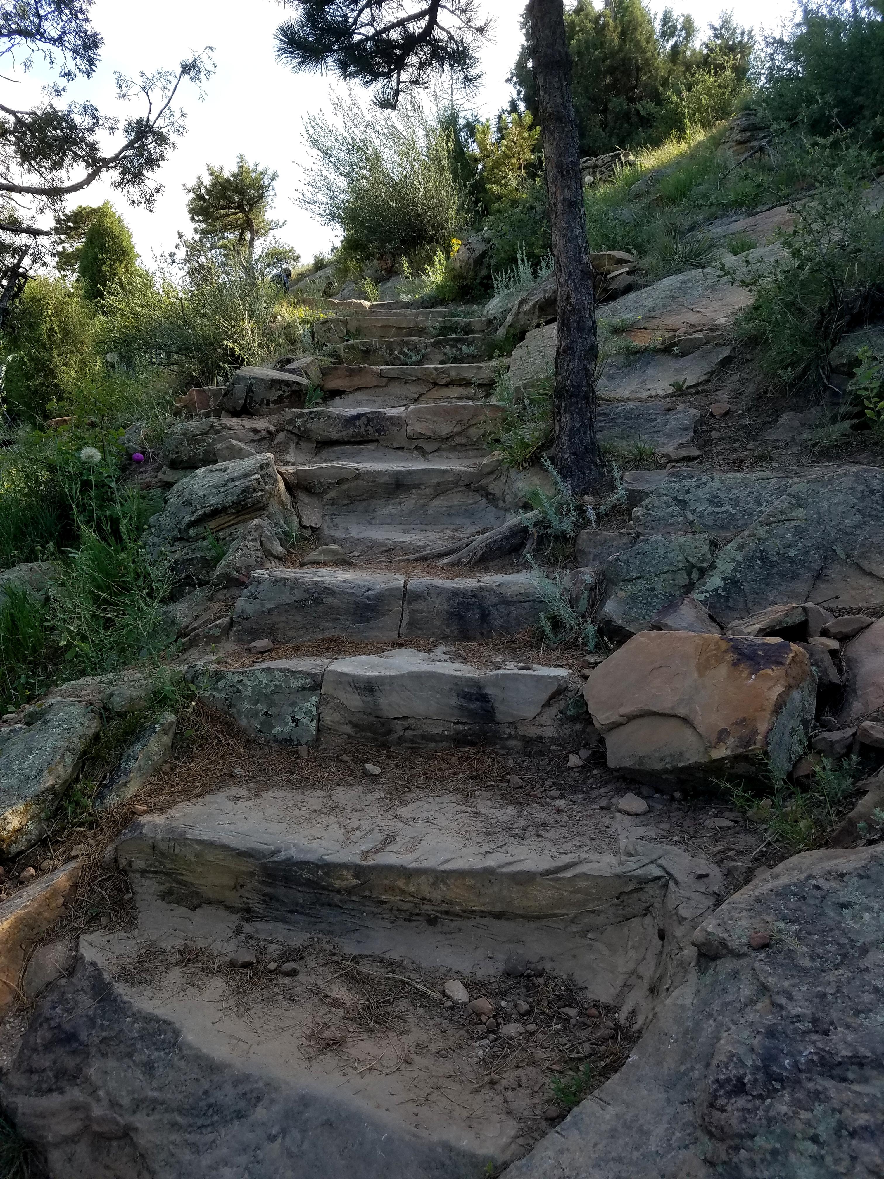 Rock Stairway on Zorro trail leading up to Dakota Ridge Trail