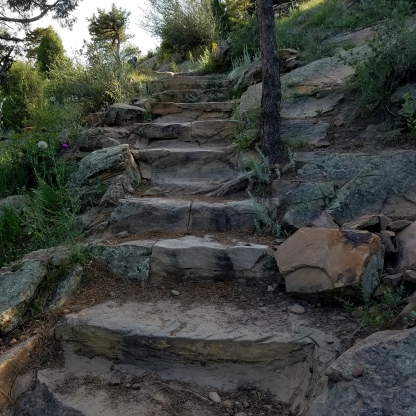 Rock Stairway on Zorro trail leading up to Dakota Ridge Trail