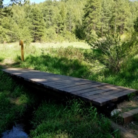 Wooden Foot bridge in O' Fallon Park