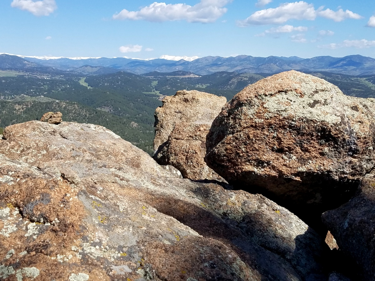 View on top of Independence peak in Pence Park, near Evergreen Colorado.