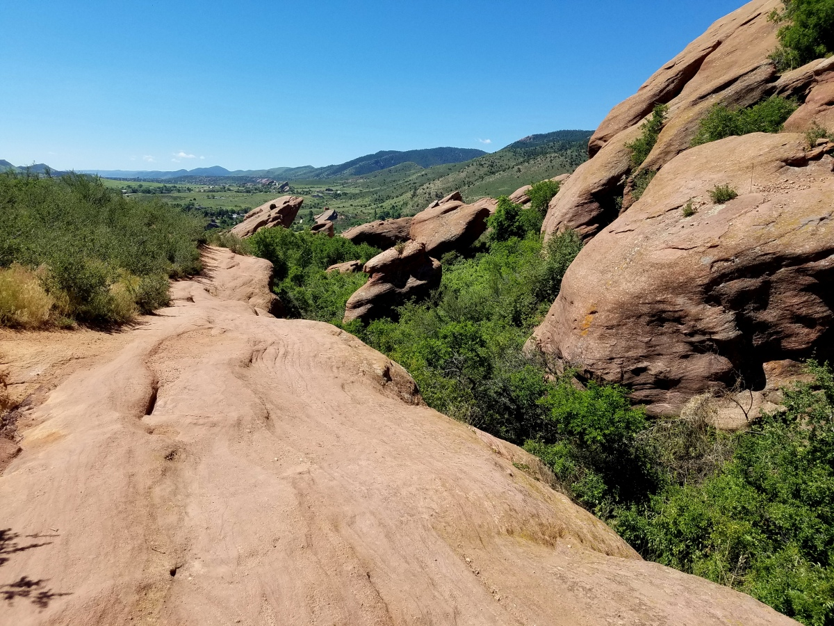 Red Rocks from Red Rocks Trading post trail.