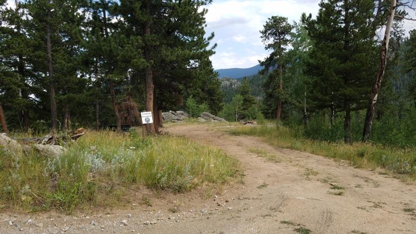 Mount Evans State Wildlife Area campsite near Camp Rock