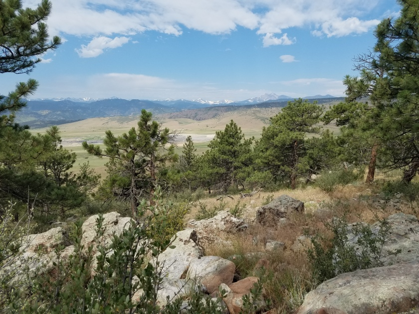 Front range views from Rabbit Mountain Park