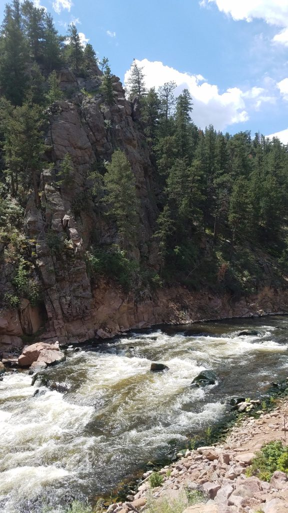 Raging rapids on the North Saint Vrain River