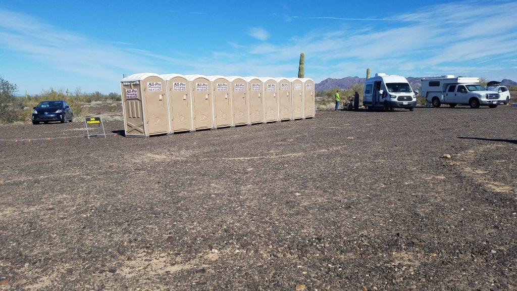 Portable restrooms at 2019 RTR