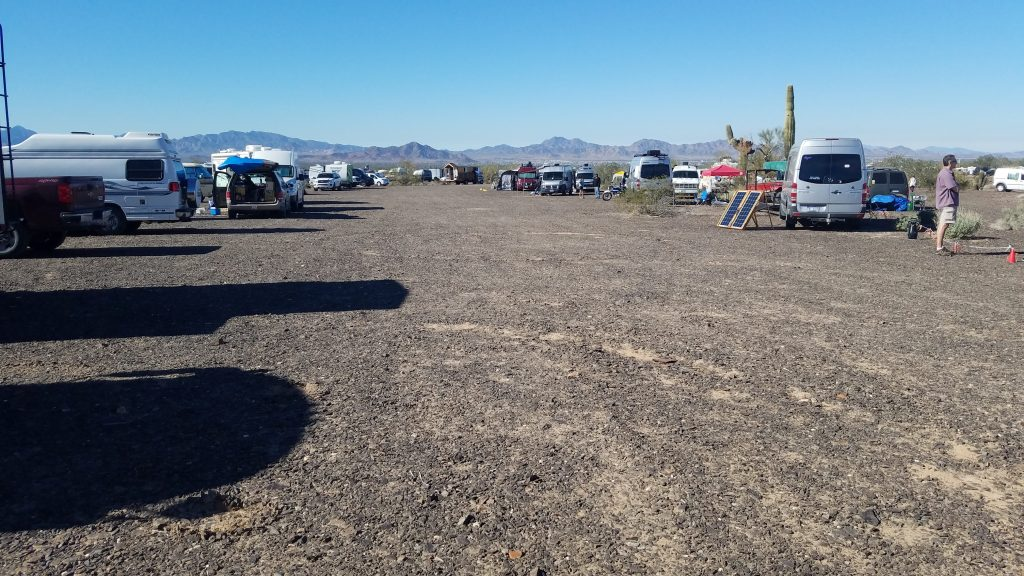 Campers at 2019 RTR in Quartzsite, Arizona