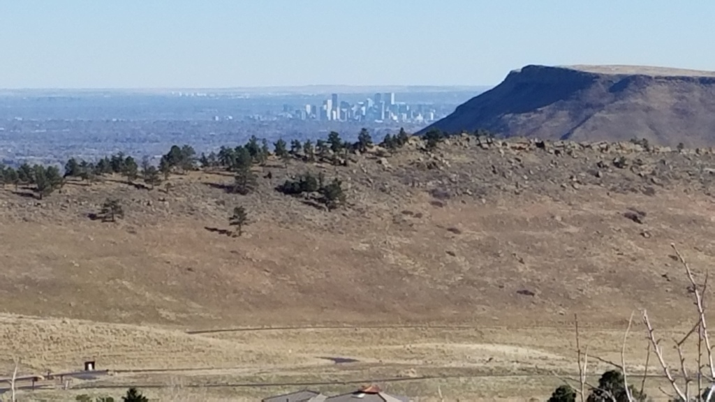 Denver and Green Mountain from White Ranch Park