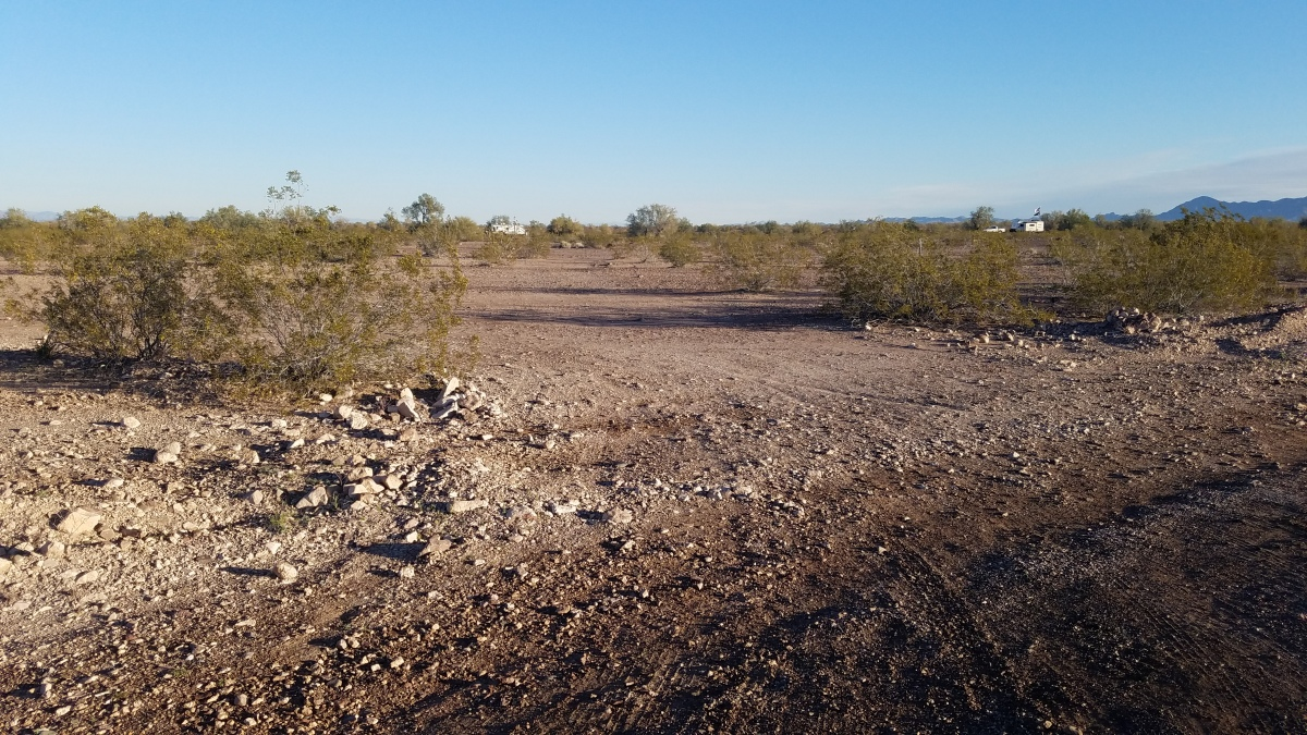 Dispersed campsites near Quartzsite, Arizona.