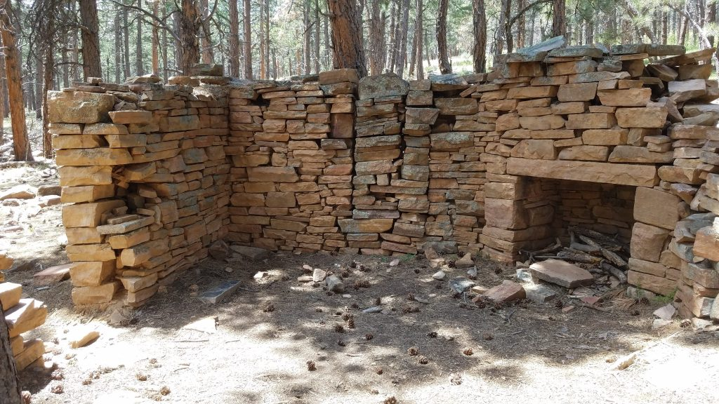 Ruins of stone cabin in Colorado