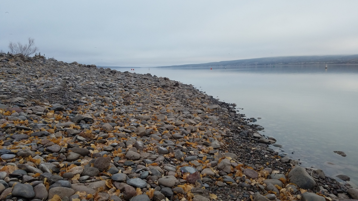 Rocky Shore of Lake Caballo in New Mexico