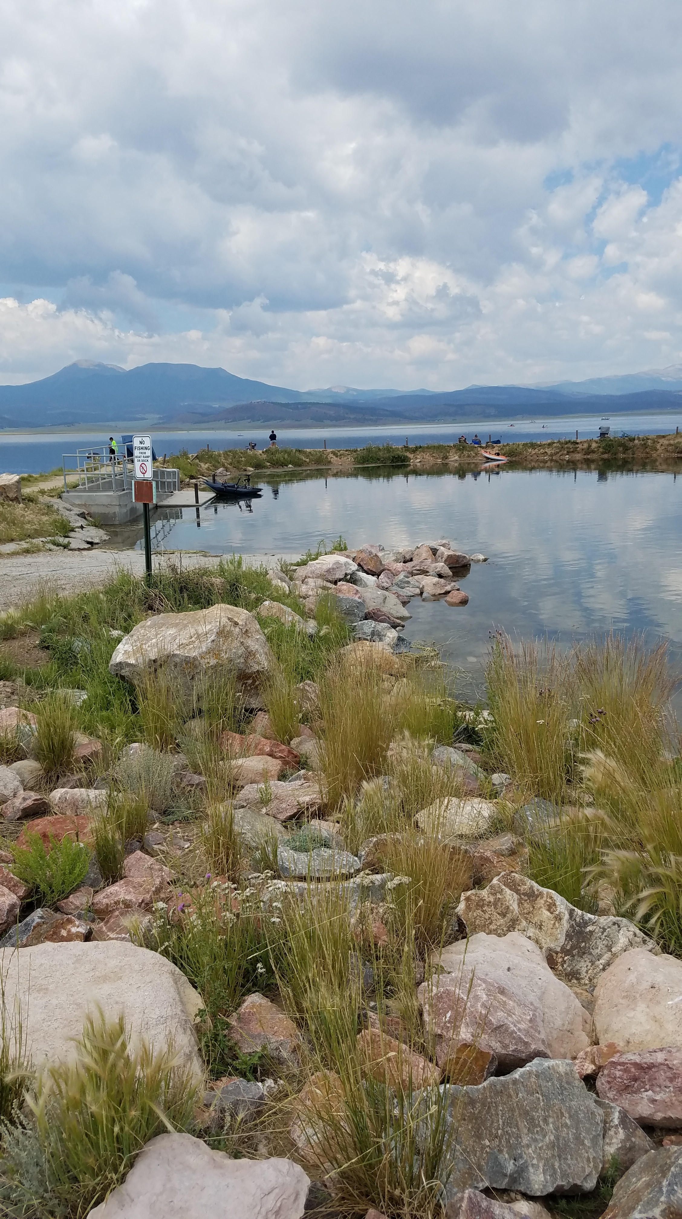 Boat Ramp at Antero Reservoir near the free Campground