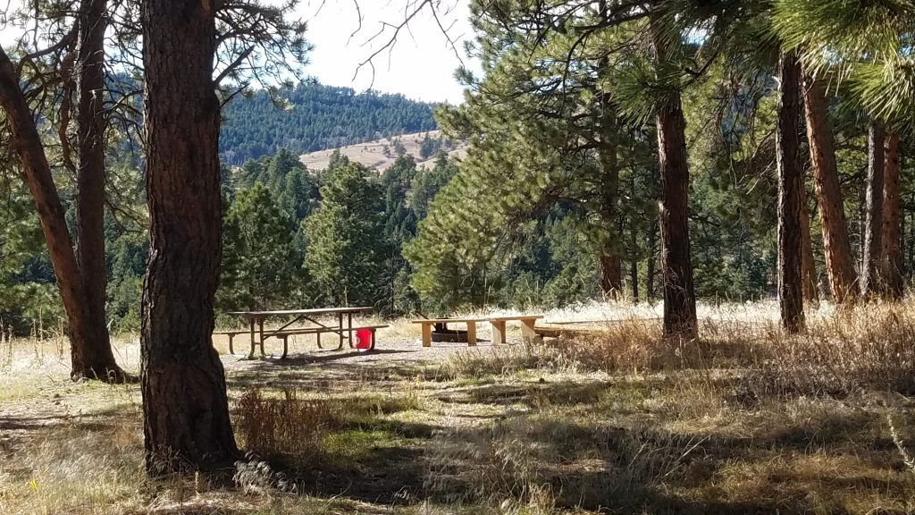 One of the free campsites near Golden Colorado