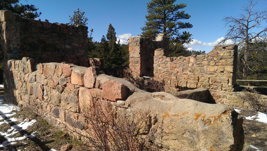 Stone wall at Mount Falcon Park