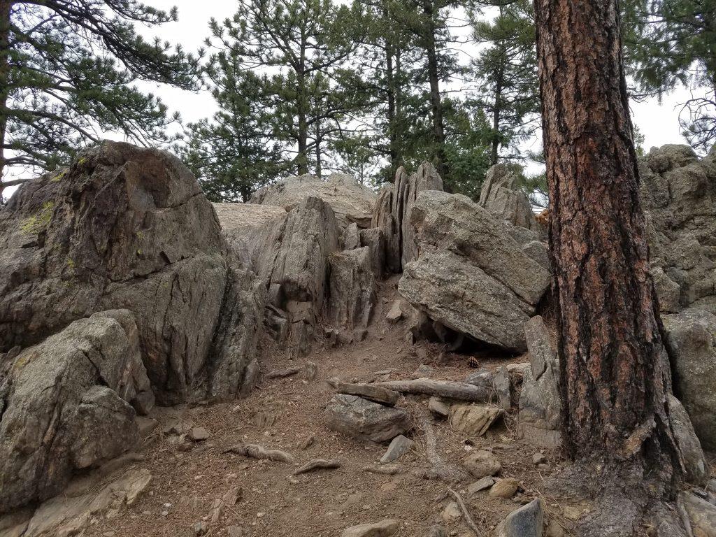 Rocky area on Bear Creek Trail