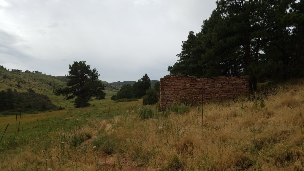 Stone cabin ruins in Heil Ranch