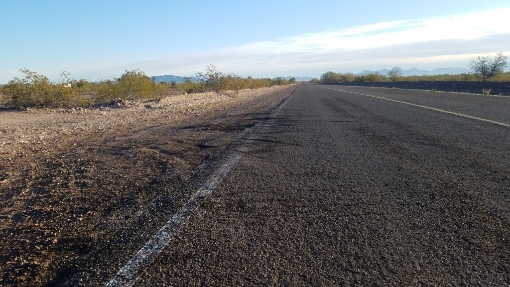View of road Conditions on plomosa road