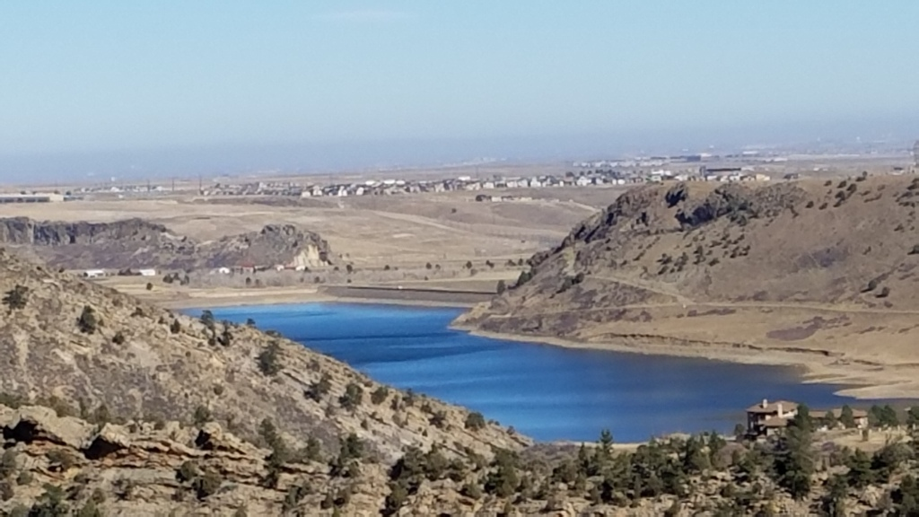 Ralston Reservoir seen from White Ranch trails