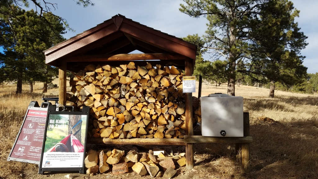 Firewood and water for use at White Ranch Park