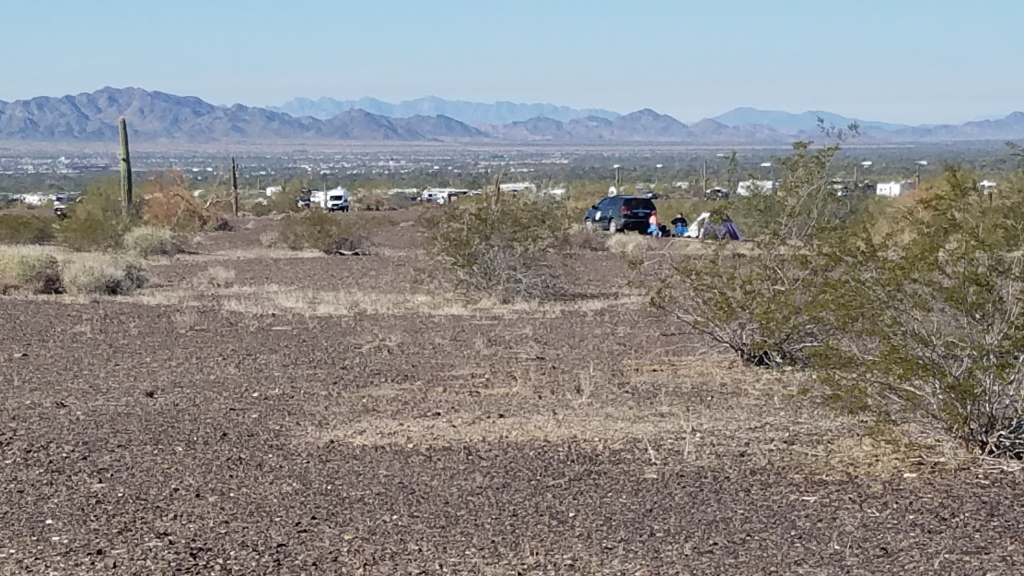 BLM Camping for the RTR near Quartzsite, Arizona