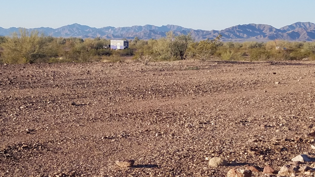 Tiny house on BLM dispersed camping land.