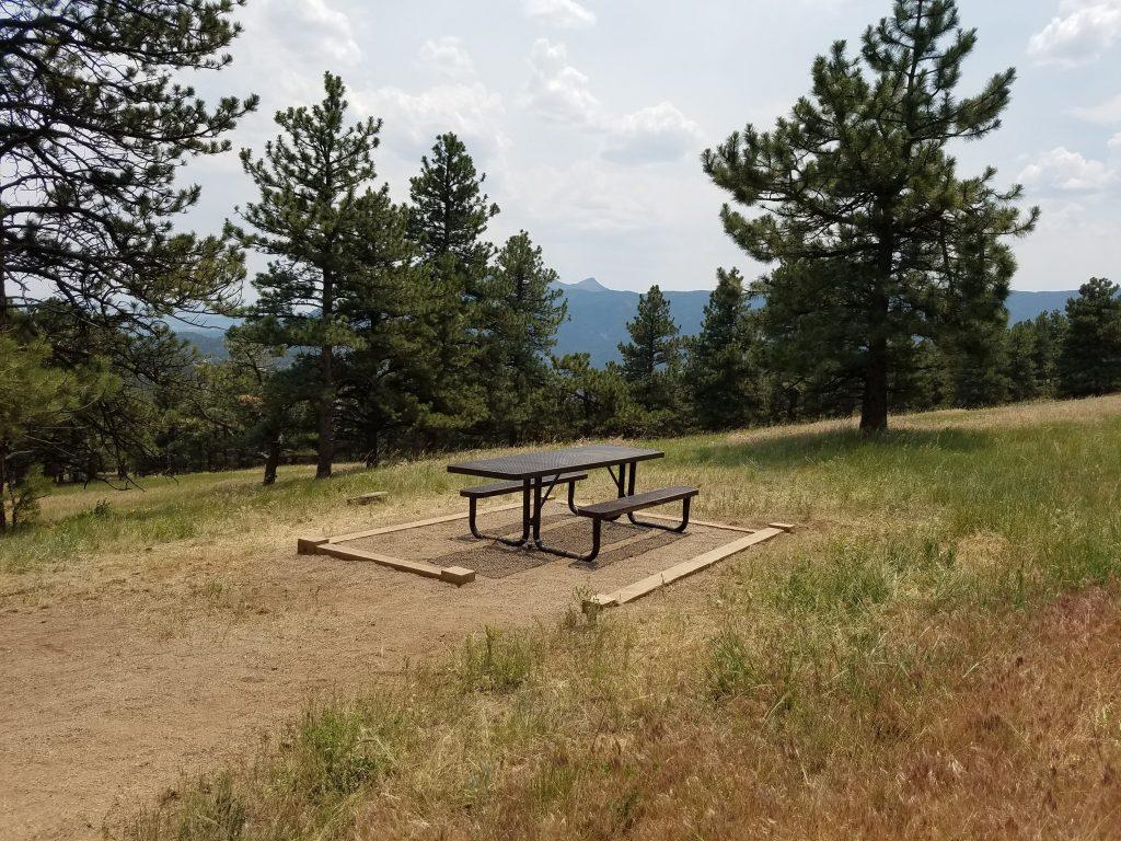 Picnic bench at Bald Mountain