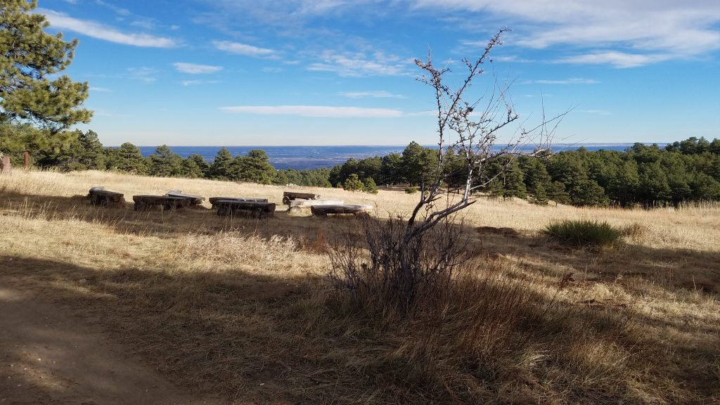 Fire ring at White Ranch free campsites in Jefferson County Colorado