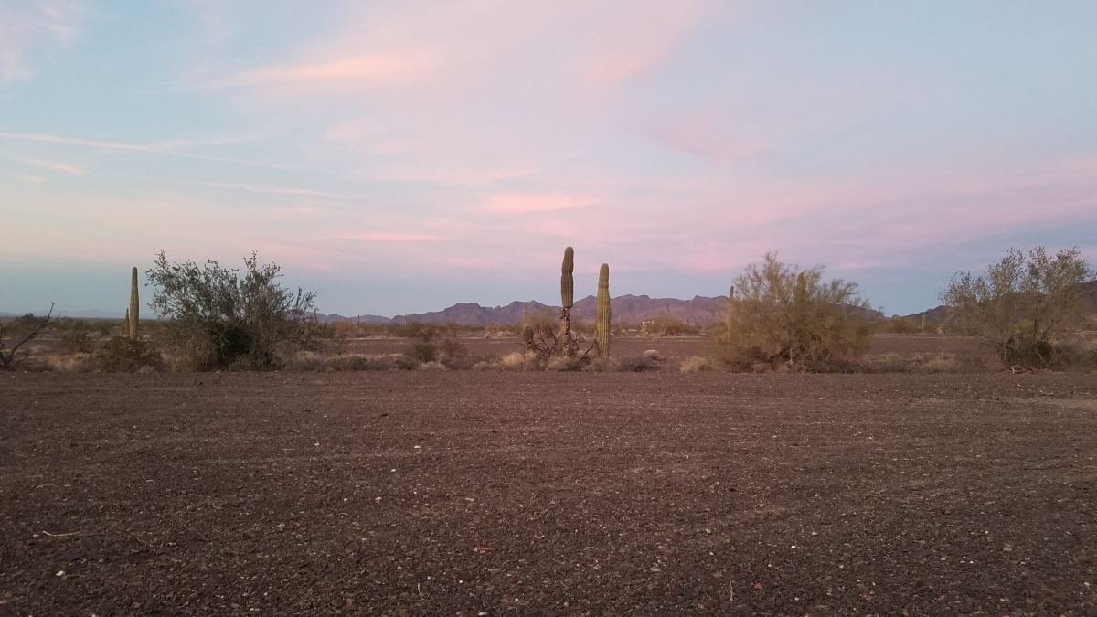 Colorful sunset in Southern Arizona