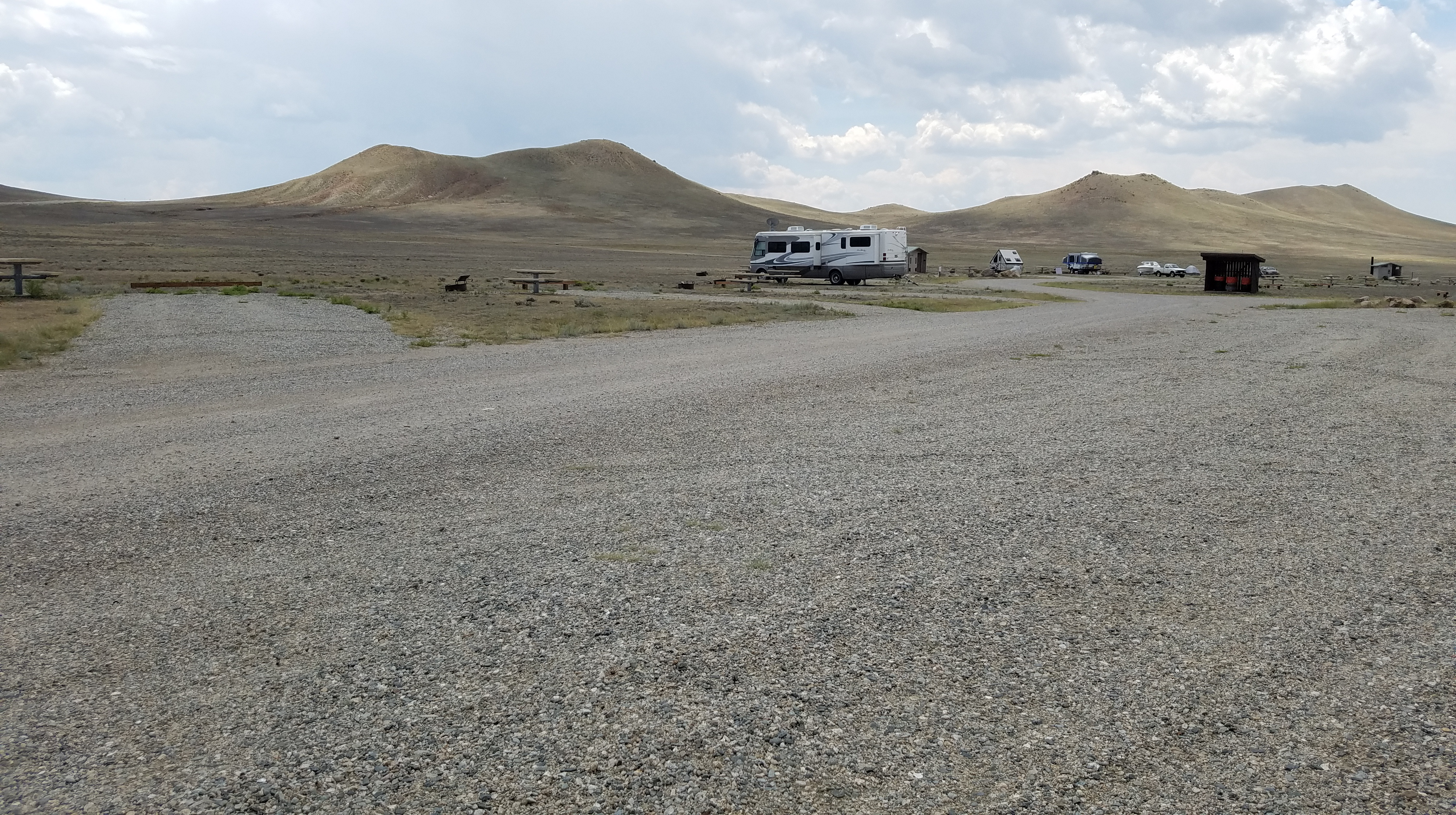 View of free Campground at Antero Reservoir