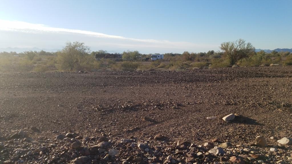 Lone Camper in the desert of Arizona